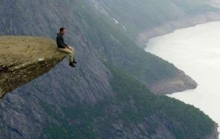 Edge of cliff